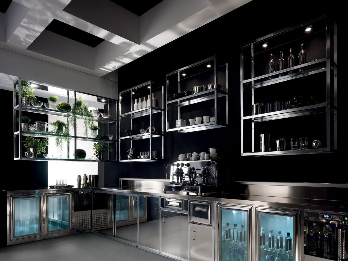 Arredo bar modello alukuadro for Arredamento moderno bar