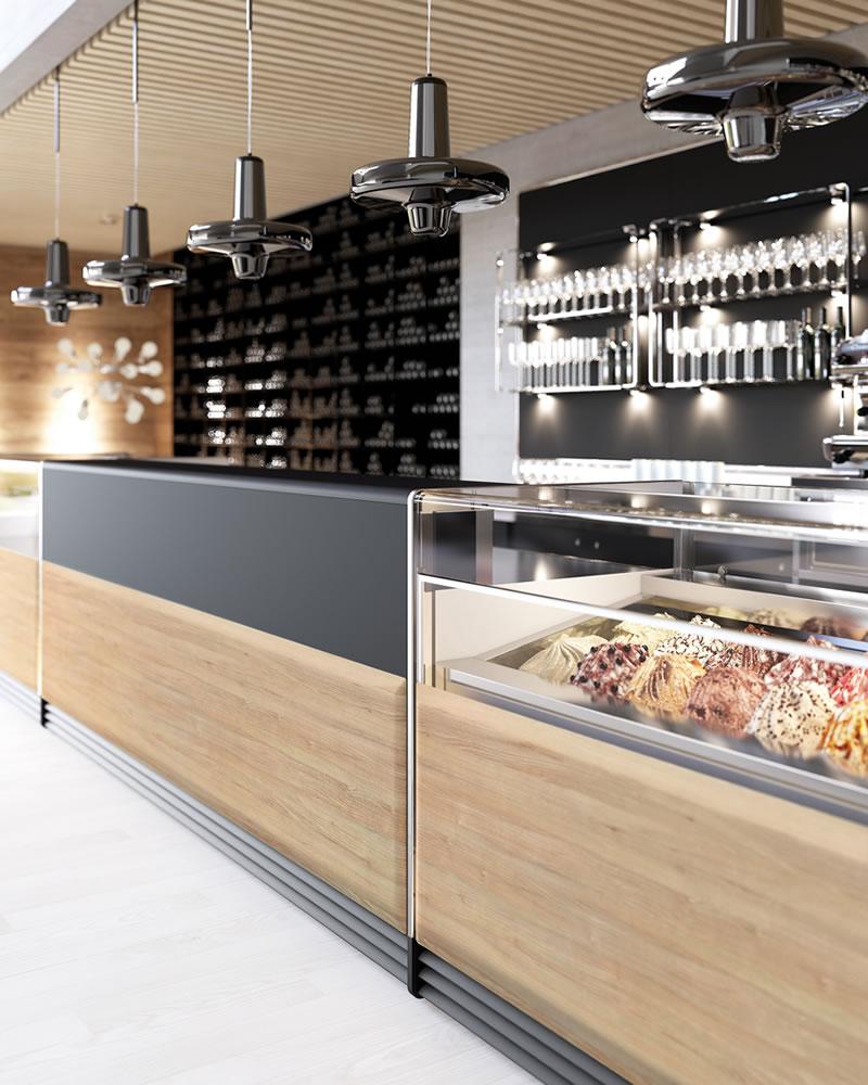 Arredo bar modello next for Arredamento vetrine
