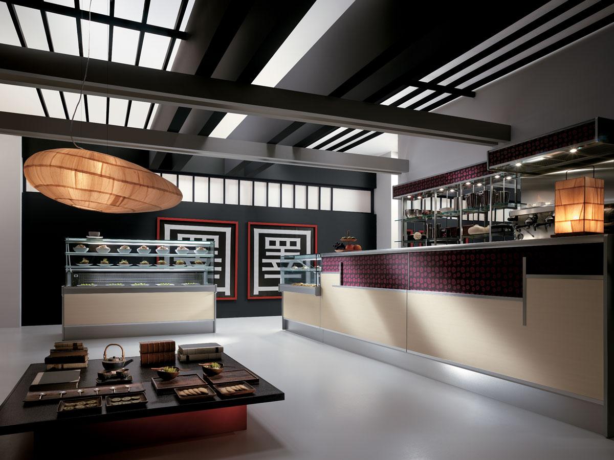 Arredo bar modello shanghai for Bar arredamento