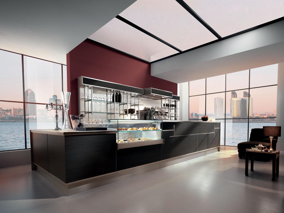 Arredo bar modello shanghai for Arredamento bar economico