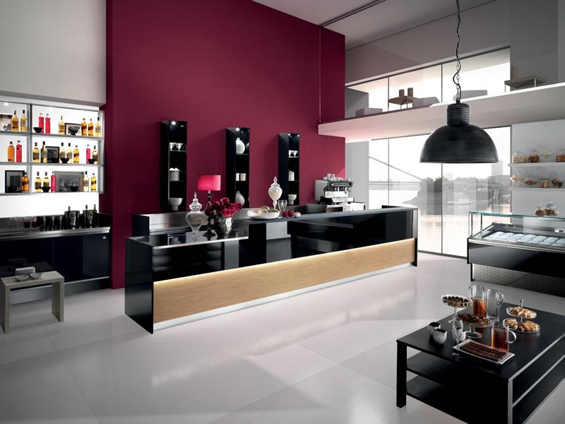 Arredo bar modello studio 12 for Arredamento moderno bar