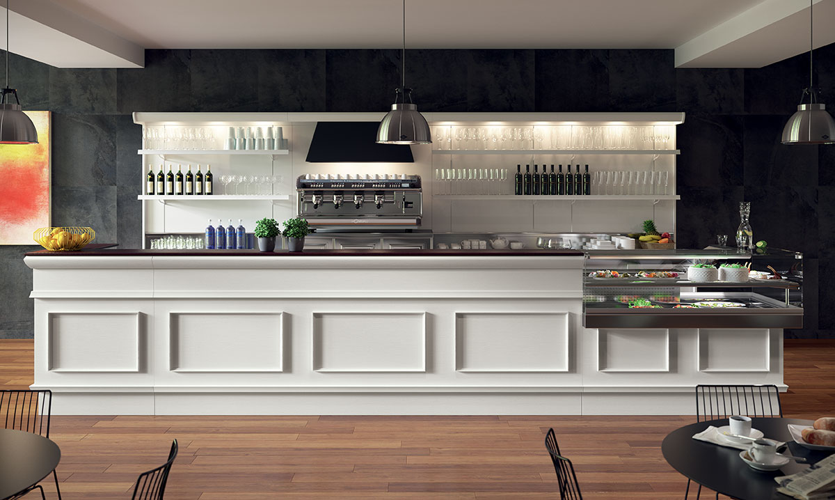 Arredo bar modello trinidad 2015 for Arredamento bar tabacchi usato