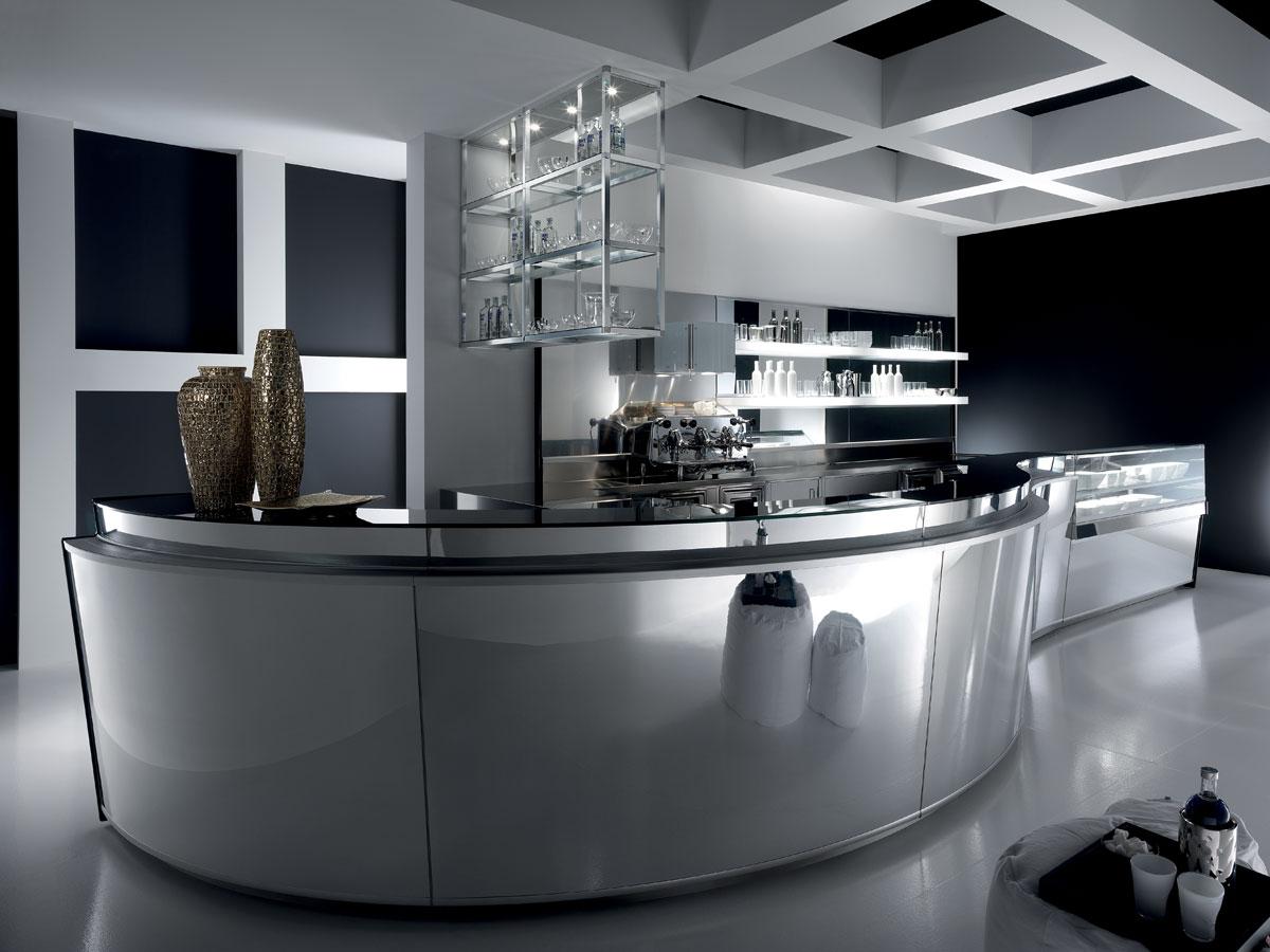 Arredo bar modello zeronove for Arredamento moderno bar