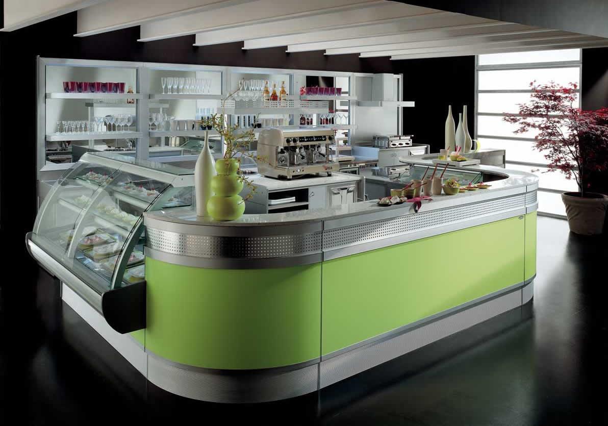 Arredo bar modello linear for Arredamento moderno bar