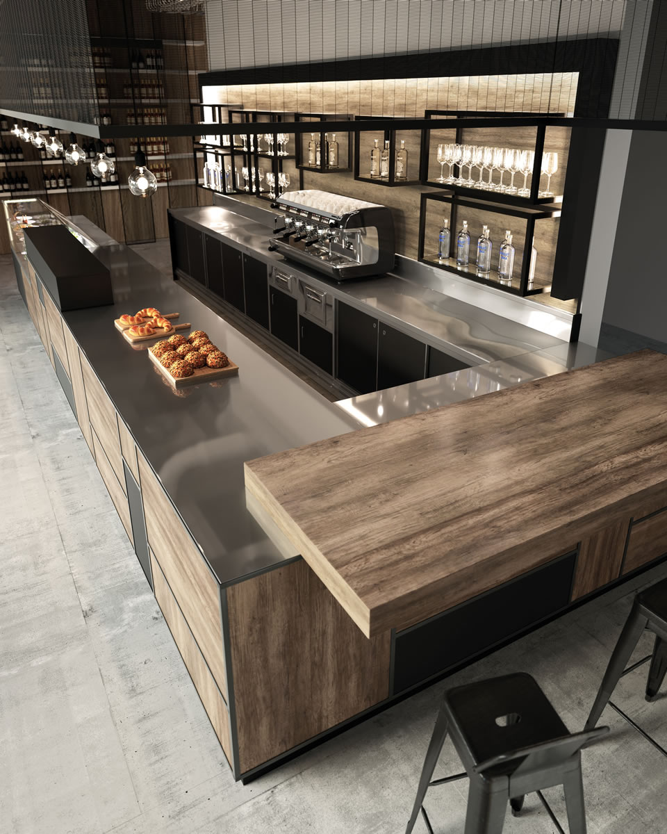 Bar furniture model madison for Artic arredo bar