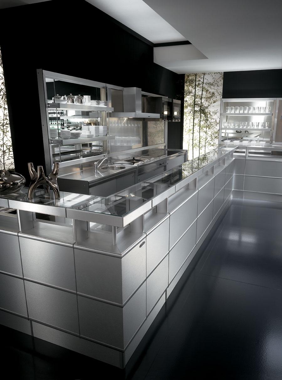 Arredo bar modello strip metal frigomeccanica for Arredamento moderno bar