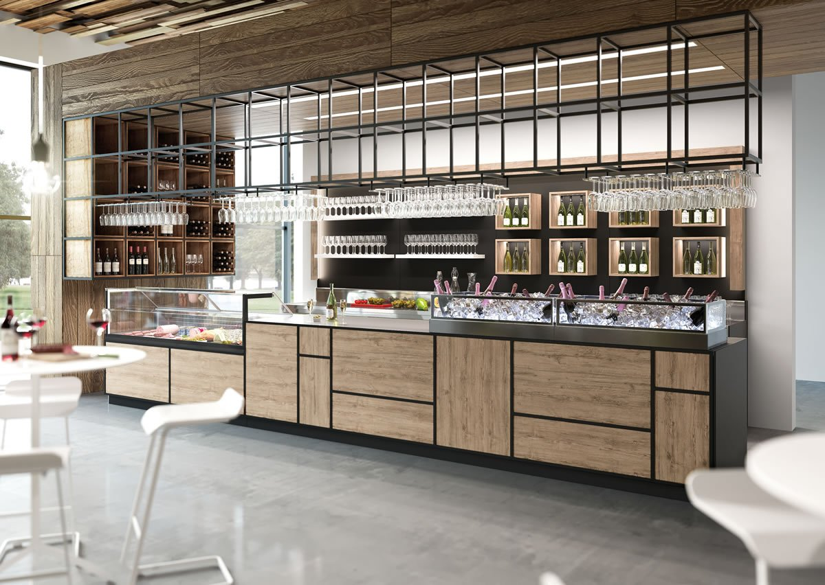 Bar furniture model madison for Ambienti interni moderni