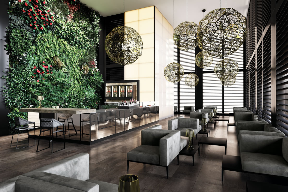 Bar furniture model madison for Arredamenti per bar moderni