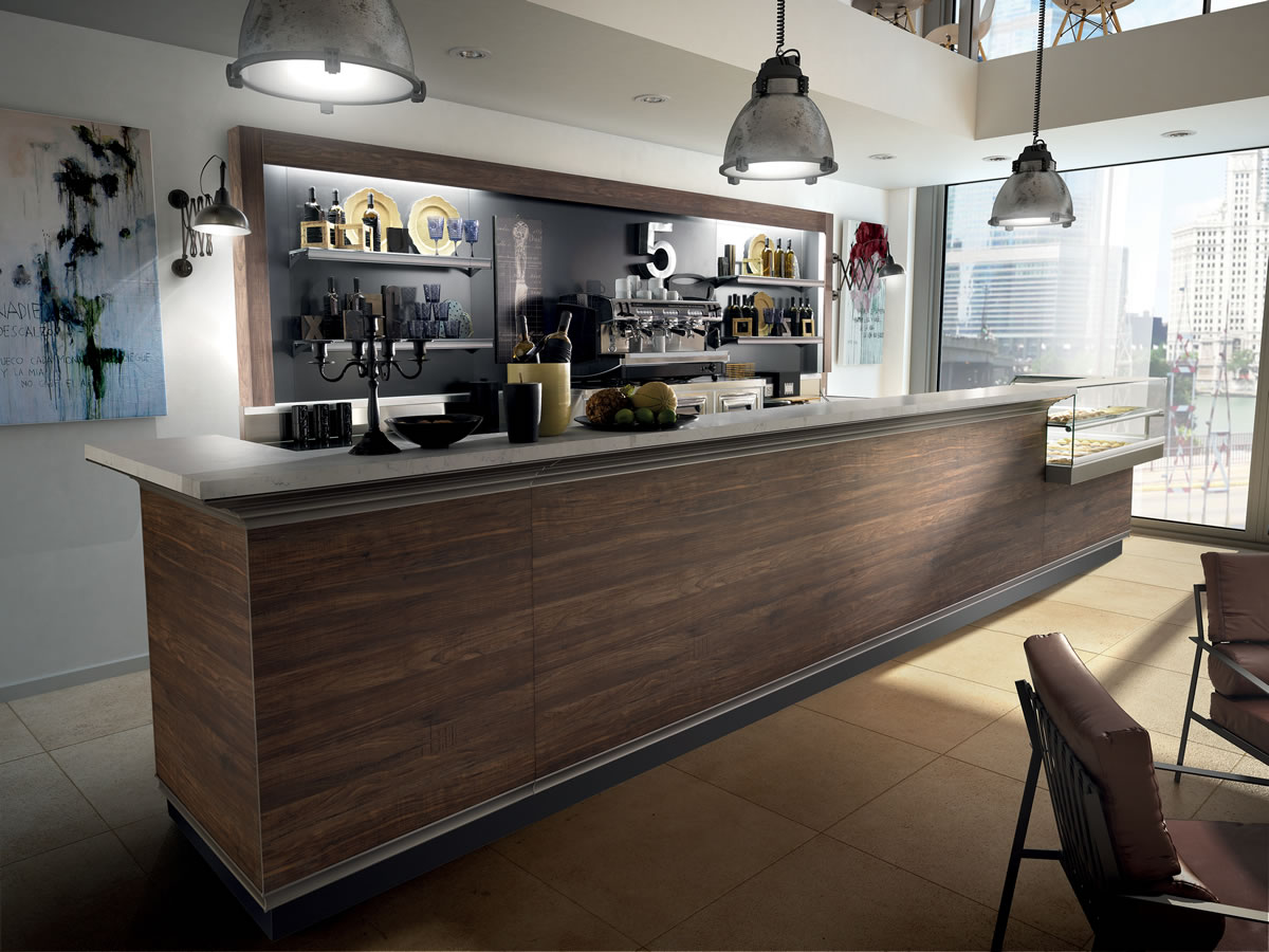Arredo bar modello brera for Ikea bancone bar