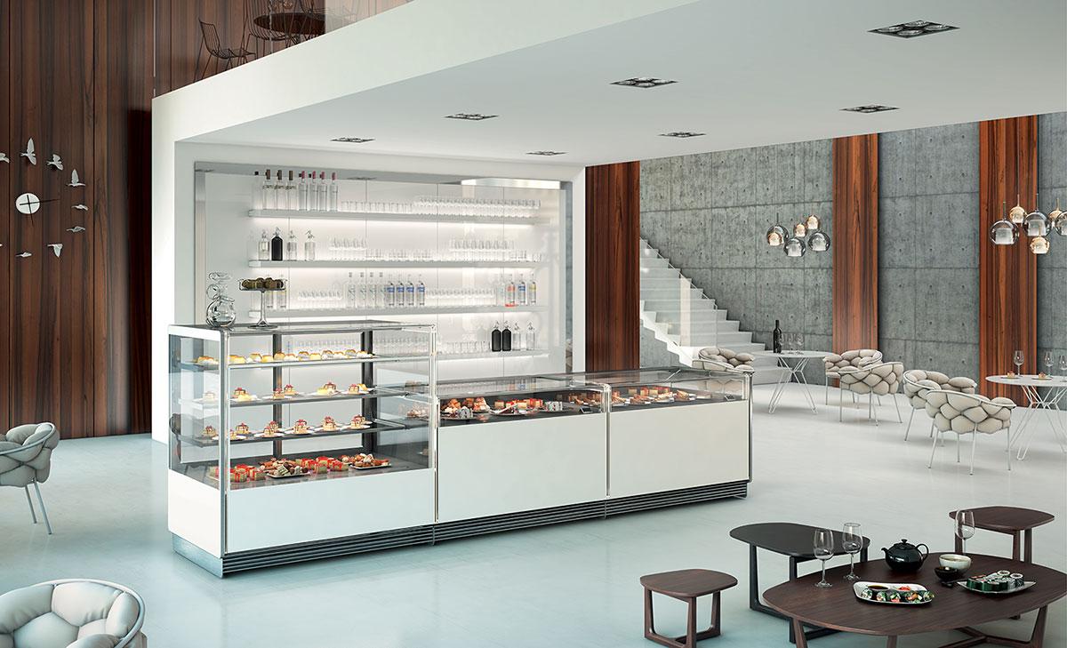 Banchi frigoriferi per bar e gelateria vetrine refrigerate for Frigo arredo