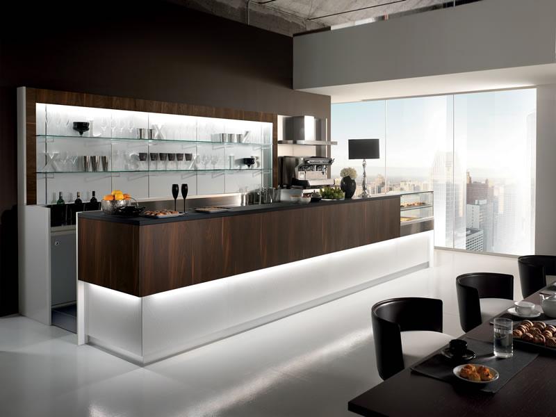 Come arredare un bar in stile moderno - Bancone bar casa ...