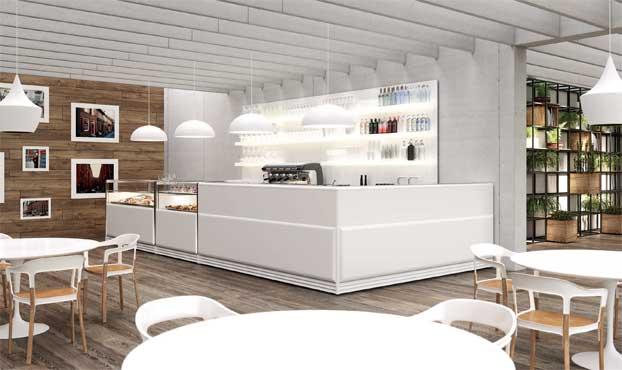 Arredo bar next total white for Arredamento total white