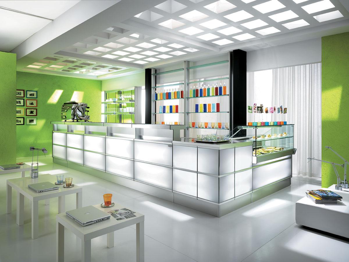 Come illuminare il bar in stile moderno e funzionale