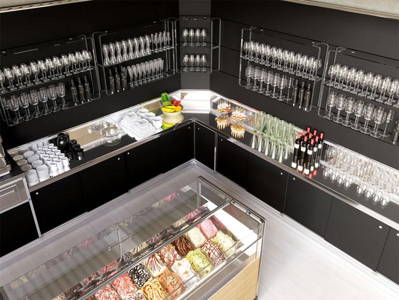come scegliere l'arredamento per gelateria | ark soft design - Arredamento Interni Gelateria