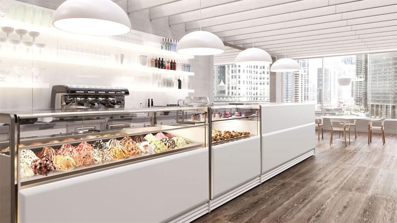 Come scegliere l 39 arredamento per gelateria for Arredamento bar moderno prezzi