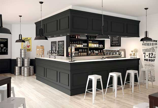 Un bancone bar economico hi tech e personalizzato for Arredamento bar economico