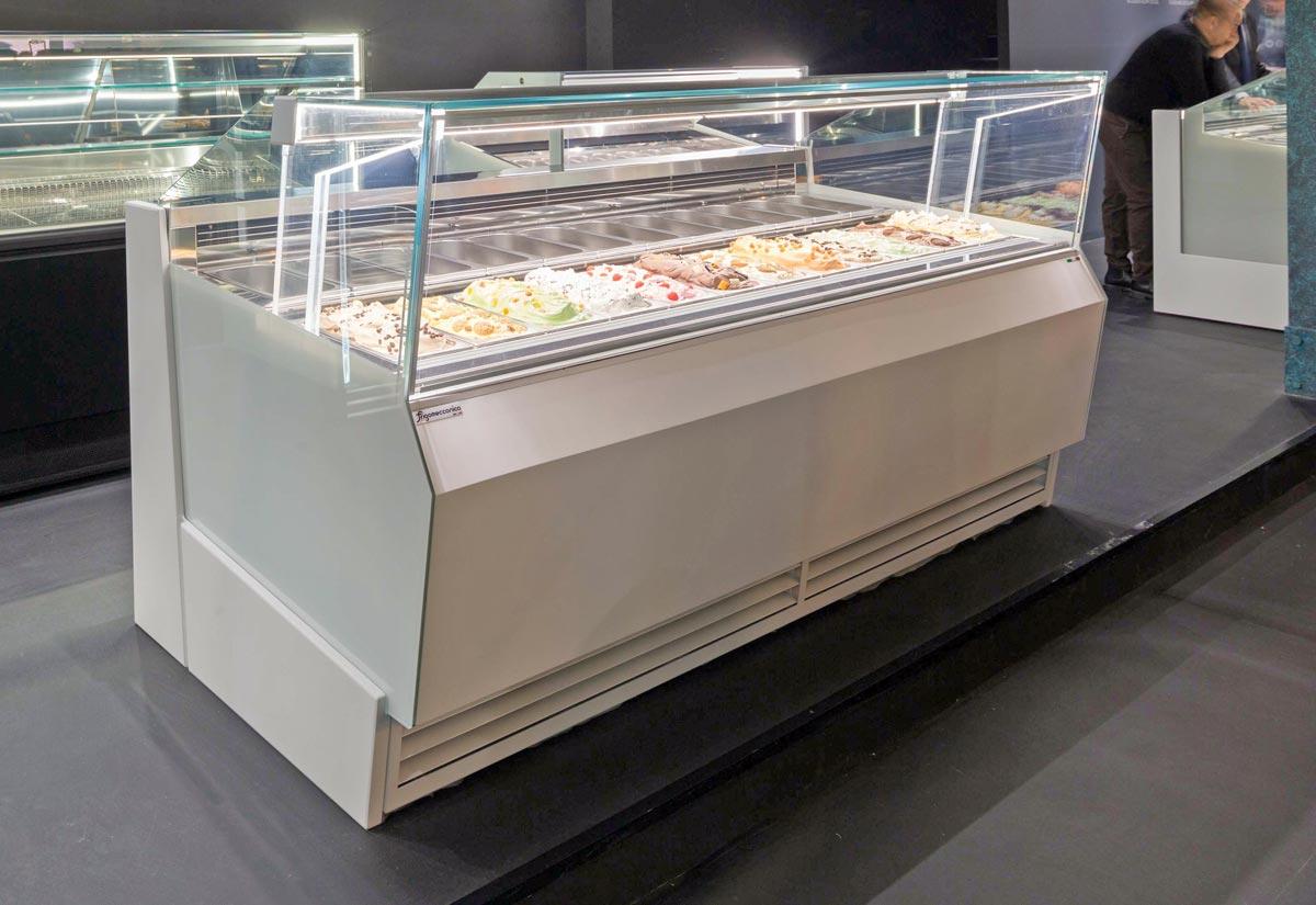 LUX Vetrina per gelati pasticceria professionale con impianto doppia ventilazione e piano a sfioro